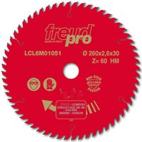 Freud LCL6M Trim Circular Saw Blade 260mm 60T 30mm