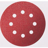 Bosch Red Wood Sanding Disc 115mm 115mm 180g Pack of 5