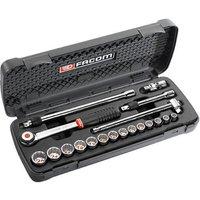Facom 19 Piece 3/8 Drive Bi Hex Socket Set Metric 3/8