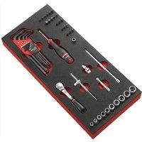 Facom 48 Piece 1/4 Drive Socket & Screwdriver Bit Set Metric in Module Tray 1/4