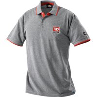 Facom Mens Short Sleeve Polo Shirt Grey / Red 2XL