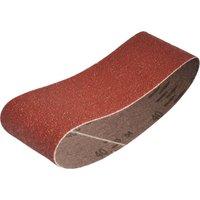 Faithfull Aluminium Oxide Cloth Belts 60mm x 400mm 60mm x 400mm 40g Pack of 3