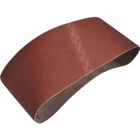 Faithfull Aluminum Oxide Cloth Belt 100mm x 610mm 100mm x 610mm 120g Pack of 1