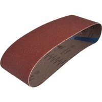 Faithfull Cloth Sand Belts 75mm x 533mm 75mm x 533mm 40g Pack of 3