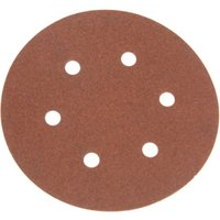 Faithfull 150mm Perforated Sanding Disc 150mm Coarse Pack of 5