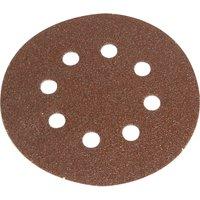Faithfull 125mm Hook & Loop Perforated Sanding Discs 125mm Very Fine Pack of 5