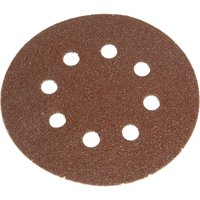 Faithfull 125mm Hook and Loop Perforated Sanding Discs 125mm Very Fine Pack of 5