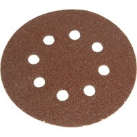 Faithfull 150mm Perforated Sanding Disc 150mm Very Fine Pack of 5