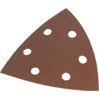 Faithfull Punched Hook & Loop Delta Sanding Sheets 80g Pack of 25