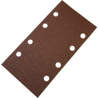 Faithfull Punched Hook & Loop 1/3 Sanding Sheets 93mm x 230mm Assorted Pack of 5