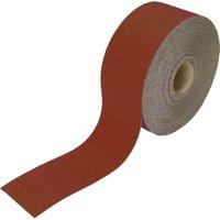 Faithfull Red Aluminium Oxide Sanding Roll 115mm 50m 40g