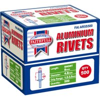 Faithfull Aluminium Pop Rivets 4.8mm 8mm Pack of 500