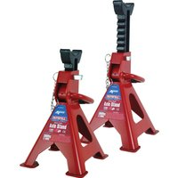 Faithfull Axle Stands Quick Release Ratchet Ajustment 3 Tonne