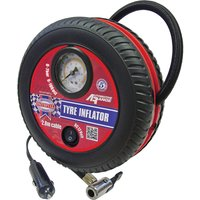Faithfull 12v Tyre Inflator and Analogue Pressure Gauge 12v