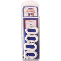 Faithfull 8mm Plastic Chain Joining Links White Pack of 4