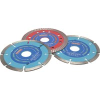 Faithfull 3 Piece 115mm Diamond Blade Set