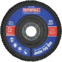 Faithfull Zirconium Abrasive Flap Disc 100mm Medium
