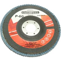 Faithfull Zirconium Abrasive Flap Disc 125mm Medium