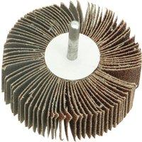 Faithfull Abrasive Flap Wheel 80mm 30mm 100g