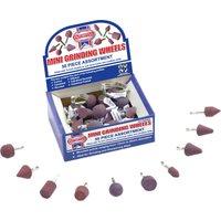 Faithfull 1/4 Shank Mini Grinding Wheel Assortment Pack of 50