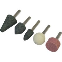 Faithfull 1/4 Shank Mini Grinding Wheel Assortment Pack of 5