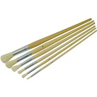 Faithfull 6 Piece Round Pattern Fitch Paint Brush Set