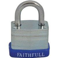 Faithfull Laminated Steel Padlock 30mm Standard