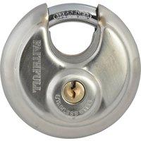 Faithfull Stainless Steel Discus Padlock 70mm Standard
