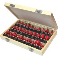 Faithfull 30 Piece 1 4  Router Bit Set