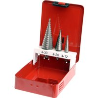 Faithfull 3 Piece HSS Step Drill Bit Set