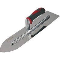 Faithfull Soft Grip Stainless Steel Flooring Trowel 16 4