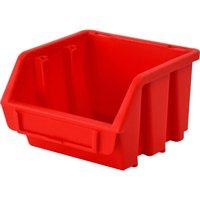 Faithfull Ergobox Interlocking Storage Bin Red 116mm 112mm 75mm