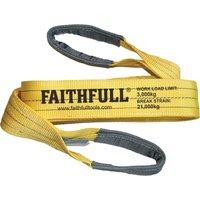 Faithfull Lifting Strap Reinforced Sling 2m 3 Tonne