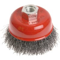 Faithfull Crimped Wire Cup Brush 100mm M14 Thread