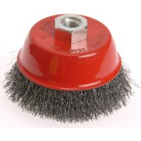 Faithfull Stainless Steel Crimped Wire Cup Brush 100mm M14 Thread