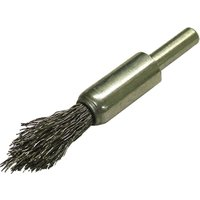 Faithfull Point End Crimped Wire Brush 12mm 6mm Shank