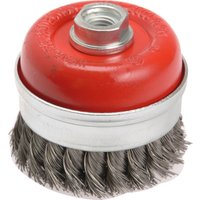 Faithfull Twisted Knot Wire Cup Brush 65mm M10 x 1 5 Thread