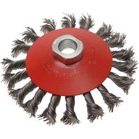 Faithfull Twisted Knot Wire Wheel Brush 100mm M14 Thread