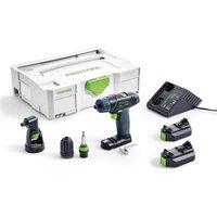 Festool TXS LI 2.6 Set 10.8V Cordless Drill Set 2 x 2.6ah Li-ion Charger Case and Accessories