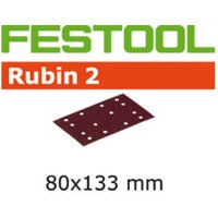 Festool Rubin 2 StickFix Sanding Sheets for Wood 80 x 133mm 80mm x 133mm 40g Pack of 50