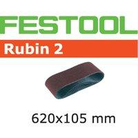 Festool 105mm x 620mm Rubin 2 Abrasive Sanding Belt 105mm x 620mm 100g Pack of 10