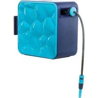"""Flopro + Cube Wall Mountable Hose Reel 1/2"""" / 12.5mm 35m Blue & Grey"""