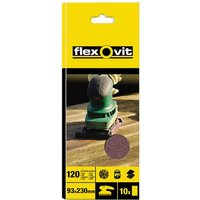 Flexovit Sanding Sheets 93mm X 230mm 93mm x 230mm Fine Pack of 10