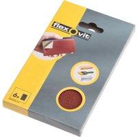 Flexovit Sanding Block Refill 70mm x 125mm 70mm x 125mm Fine Pack of 6