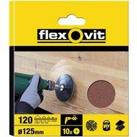 Flexovit Drill Mount Sanding Discs 125mm 80g Pack of 10