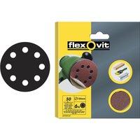 Flexovit 125mm Hook and Loop Sanding Discs 125mm Assorted Pack of 6