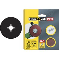 Flexovit Aluminium Oxide Fibre Discs 125mm 36g Pack of 3
