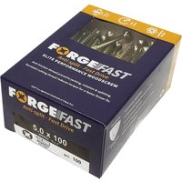 Forgefix Forgefast Pozi Wood Screw 5mm 100mm Pack of 100