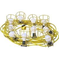 Faithfull Festoon Lights 22 Metres with 10 Lamps 110v