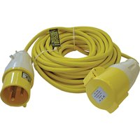Faithfull Extension Trailing Lead 32amp 2.5mm Yellow Cable 110v 14m